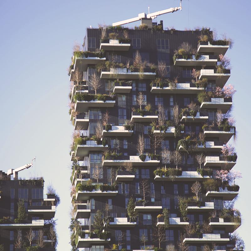 Bosco verticale and hotel viu urban nature in milan - Bosco verticale ...