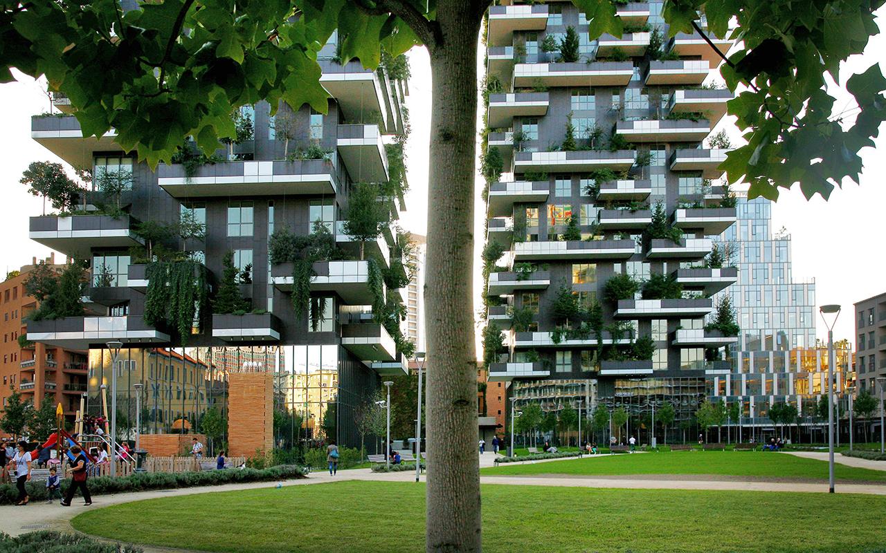 Passeggiare nel green vicino al viu hotel viu milan - Residenze di porta nuova ...