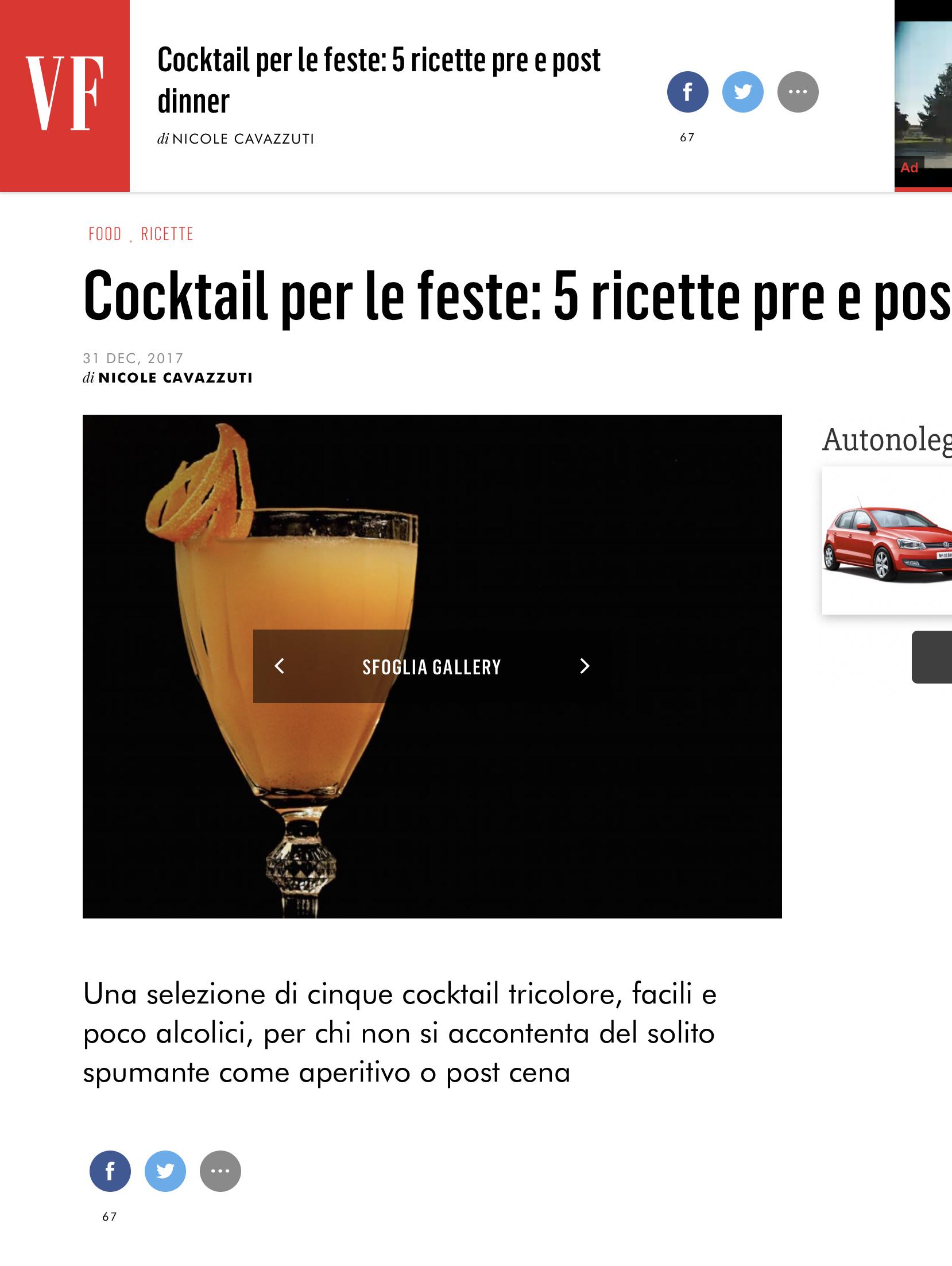 5 ricette cocktail